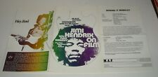 JIMI HENDRIX on FILM FOREIGN TRI FOLDED PRESS BOOK PRESSBOOK with PHOTOS