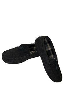 Minnetonka Mens Slippers House Shoes Dark Gray  Sz 11