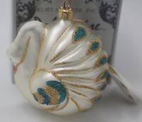 KURT ADLER POLONAISE KOMOZJA SWAN CHRISTMAS ORNAMENT  NEW