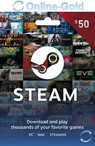 Steam Game Card 50 USD Dollar Steam $50 Wallet Game Card Code