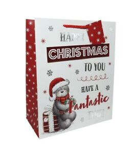 3 Gift Bags Extra Large Portrait Bear With TEXT 305 x 379 x 202mm