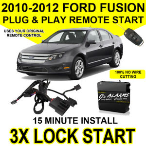 2010 2011 2012 Ford Fusion Remote Start Plug and Play Easy Install 3X Lock FO1A