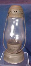 Antique Tin Skaters Lantern Kerosene Glass Globe Original Handle