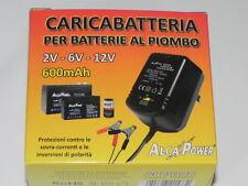 Caricabatterie batterie al piombo 2V 6V 12V 600MAH ALCAPOWER 702002 AP2612C