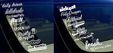JDM Sticker Decal Pack Lot of 16 Tuner Racing Drifting Dope Stickers (8PKB#8PKA)