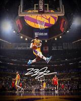 Lebron James LA Lakers The Dunk Photo Print  8x10 Photo  SWEET! Signed Reprint