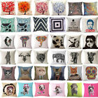 18 Inches Decoration Pillow Linen Blend Throw Pillow Case Car Sofa Cushion Cover