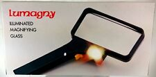 Lumagny Rechthoekig Vergrootglas met licht, vergroting 2x en 4x (VG19)