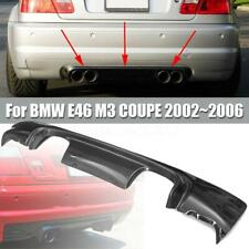 Carbon Fiber Look CSL 2-Tone Rear Bumper Diffuser For BMW E46 COUPE 2002-2006
