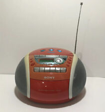 Sony Psyc CD Player Cassette-Corder CFD-E95 Orange Tested And Works