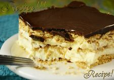 "☆No-Bake Chocolate Eclair Dessert ""RECIPE""☆Easy, Yummy & Chocolate-y!☆"