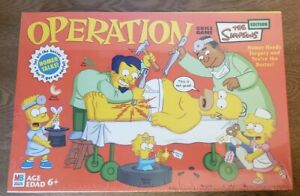 Simpsons Operation Game by Milton Bradley Homer Simpson New In Sealed Box 2005