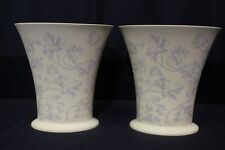 "Large 10"" Elegant PAIR Cream With Grey Foliage Wedgewood ""Interiors"" Vases"