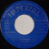 FATS DOMINO: Hey Little Girl IMPERIAL Repro R&B 45 VG++ Super Clean (LABEL WEAR)