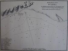 MOUILLAGE D'ADRA ,1862, GAUTTIER, PLANS PORTS RADES MER MEDITERRANEE