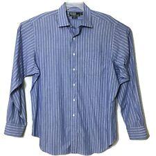 Polo Ralph Lauren mens Dress Shirt Blue Striped Philip Cotton Size 17 - 36/37