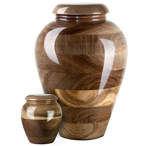Stunning and very special Italian Walnut Cremation Funeral urn Personalised Urn