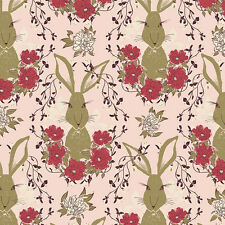 By 1/2 Yard Forest Floor In the Thicket Dawn Art Gallery Fabric AGF Rabbit Bunny