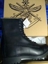 Leather Combat / Cadet Boots -  black new size 12.5  Free Postage