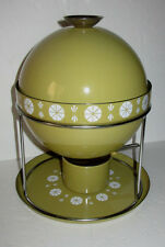 MID CENTURY MODERN CATHERINEHOLM NORWAY ATOMIC ENAMEL FONDUE POT GREEN BEAUTY!