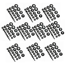 10 Sets Soprano Saxophone Pads for Sax Parts Replacement One Complete Set