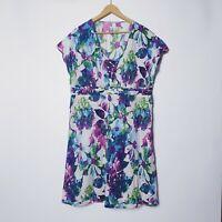 Virtuelle Taking Shape TS Plus Size 16 Colourful Floral Fit Semi Flare Dress
