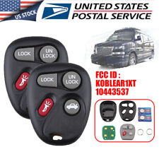 2x Remote Key Fob for 2001 2002 2003 2004 2005 Chevrolet Monte Carlo KOBLEAR1XT