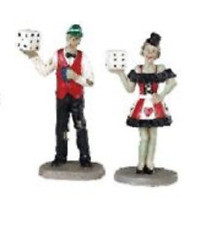 2018 Lemax Spooky Town Halloween Casino Figurines New