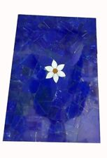 "36"" x 24"" marble table top lapis lazuli marquetry Inlay Handmade decor"