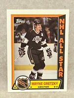 1989-90 Topps Sticker Inserts Kings Hockey Card #11 Wayne Gretzky