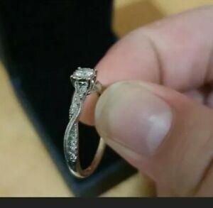 Wow! 9ct Gold Diamond Ring Diamond Engagement ring white Gold diamond ring