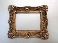 Rectangular Mini Decor Picture Frame Brown Gold Patina Classic Style Gothic