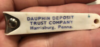 Vintage ADVERTISING DAUPHIN DEPOSIT TRUST CO. BANK, HARRISBURG, PA. NAIL CLIPPER
