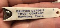 Vintage ADVERTISING DAUPHIN DEPOSIT TRUST CO. BANK, HARRISBURG, PA. NAIL CLIPPER