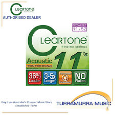 Cleartone Treated Phosphor Bronze Custom Light Acoustic Guitar Strings 11's