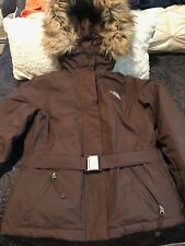 The North Face Greenland Jacket Hyvent Womens Misses Faux Fur Down SZXS