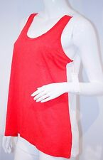 J BRAND Ready to Wear LAVA WHITE Coral POCKET Gertrude Tank TOP Colorblock
