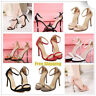 High Heels Ladies Ankle Strap Stiletto Peep Toe Sandals Court Party Buckle Shoes