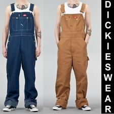 Dickies BIB Overall DB100 Mens loose fit Denim Latzhose Jeans Blau Braun
