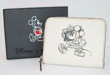 COACH X Disney MINNIE MOUSE White Cute Wallet Limited Edition Leather NWT