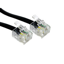 More details for rj11 to rj11 adsl cable router lead telephone phone 6p4c fully wired gold black