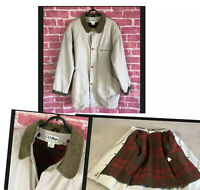LL BEAN Original Field Coat Button Out Wool Nylon Warm Lining Mens Size XL TALL