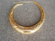 Choker Necklace in Box Vintage Gold Tone Metal