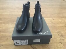 New Ecco Abelone black leather ankle boots size 41 (7.5 UK)