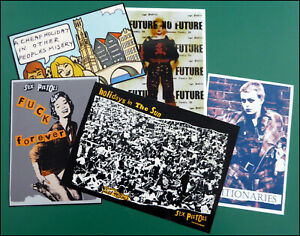 SEX PISTOLS, Seditionaries, Exclusive Set of 5 large Glossy Vinyl Stickers