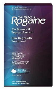Women's Rogaine 5% Minoxidil Topical Aerosol Hair Regrowth (4 MO) EXP 05/22 BNIB