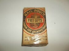Vintage Mail Pouch Ribbon Cut Chewing Tobacco Package With Coupon Collectible!