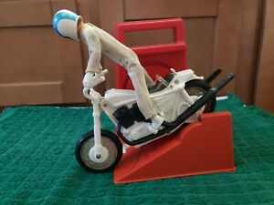 VINTAGE ORIGINAL EVEL KNIEVEL STUNT CYCLE EVIL ACTION FIGURE DOLL 70s MOTORCYCLE