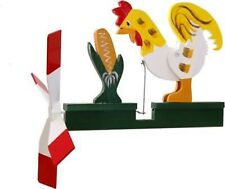 Rooster Eating Corn Wooden Wooden hand painted Whirligig....29
