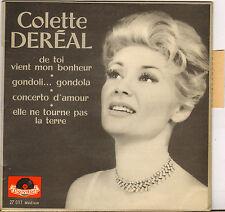 """COLETTE DEREAL """"DE TOI VIENT MON BONHEUR"""" 60'S EP"""